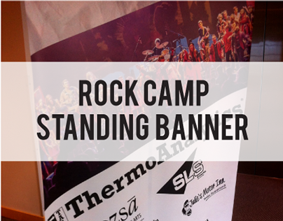 Rock Camp Standing Banner