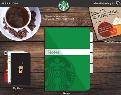 Starbucks iPad App Concept