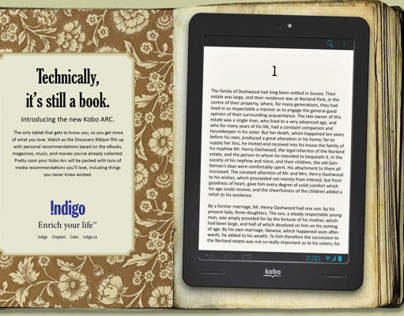 3 Page Ad for Kobo Arc