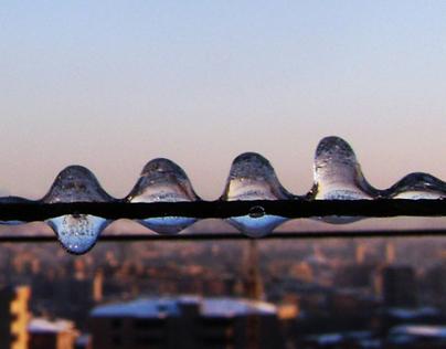 Melting Snow..Frozen Drops
