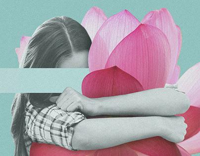 Abrazos floridos