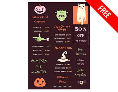 Halloween Menu - free Google Docs Template