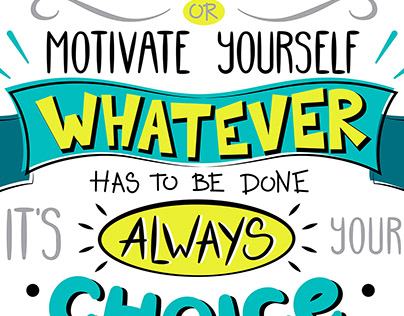 Motivational lettering posters quotes
