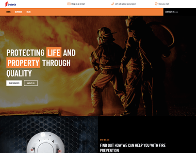 Firetech- company website for Fire Protection provider