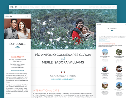 Williams Colmenares Wedding Website