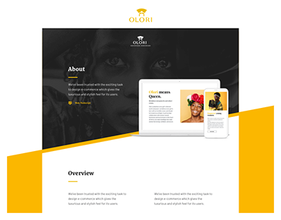 Olori - Web Shop Design