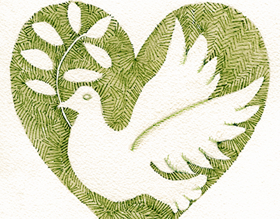 Watercolor : Peace Dove