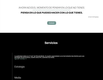 Sitio web para la agencia digital OnrushMedia