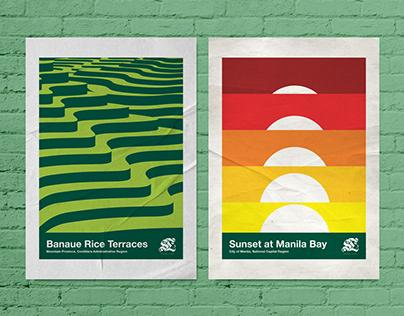 Minimalist Philippine Tourism posters