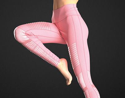 Alo Yoga High-Waist Moto Legging 3D Visualization