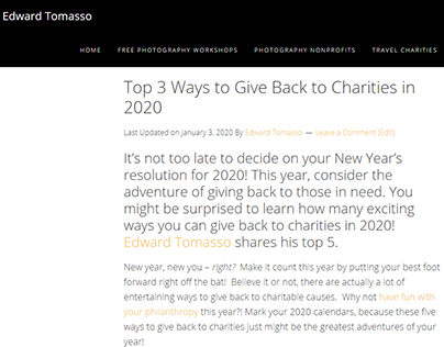 Top 3 Ways to Give Back to Charities in 2020