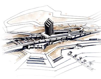 Sketch concept set 2. Autocentre