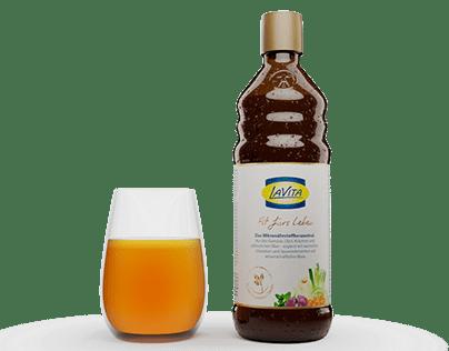 Bottle animation - fluid simulation - LaVita