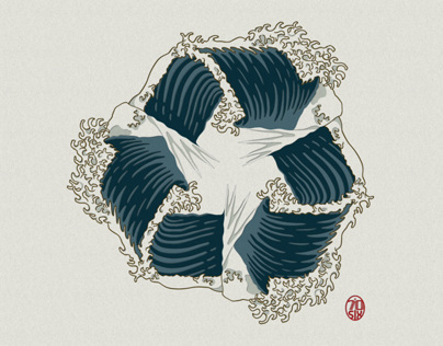 Recycle Wave Illustration