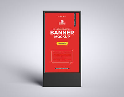 Free Expo Advertising Banner Mockup