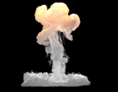 VFX fire & smoke simulation (Fume FX, Phoenix)