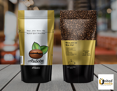 Cafés Amboim packaging design
