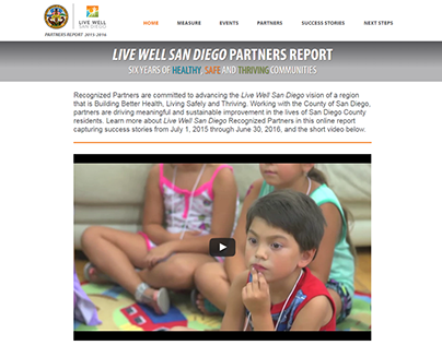 Live Well San Diego Partners Annual Report Website