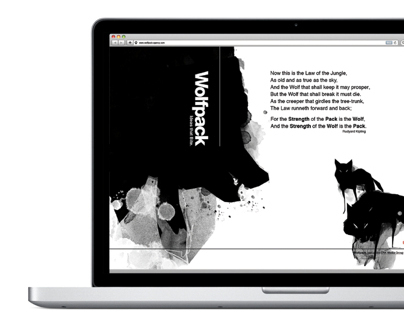 Wolfpack Parallaxing Website Design