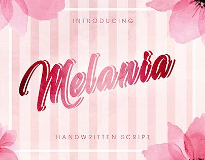 Melania - handwritten script
