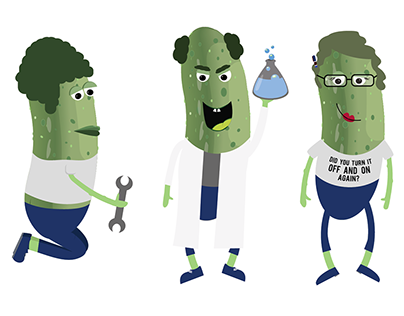 Professional Pickle People Sticker Set