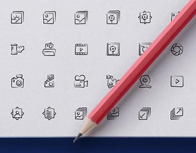 500 Hand drawn icons