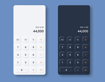 Soft UI Design | Neumorphism Design | Calculator Design