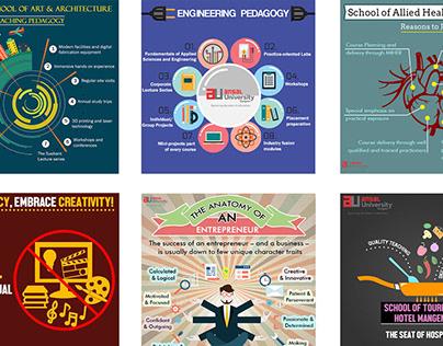 Social Media creatives for various brands