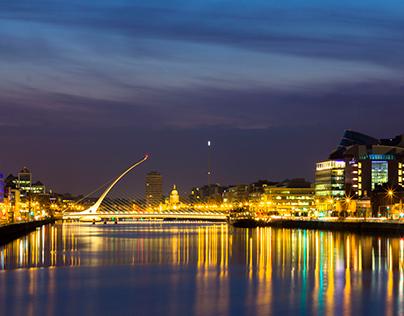 Photo: Dublin Lights & Poolbeg Pipes