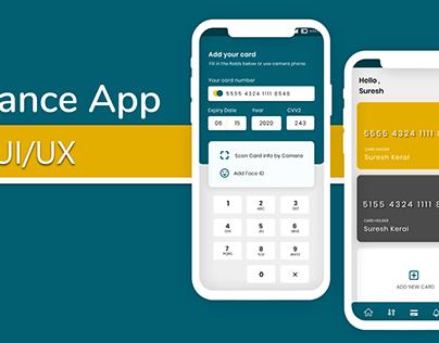 Finance App UI/UX