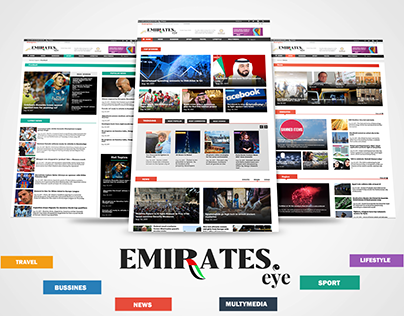 Emirates Eye Online News Agency Web Design