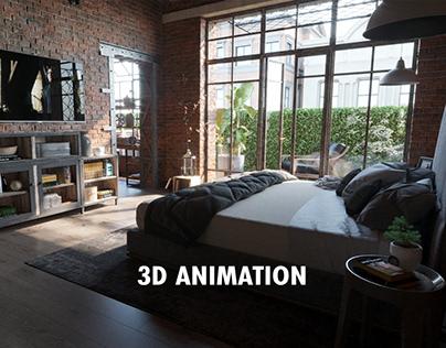 Bedroom 3D Animation