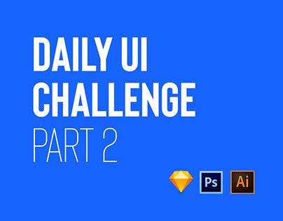 Daily UI Challenge Part II