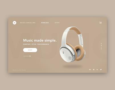 Headphones Landing Page