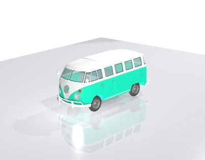 3D volkswagen van