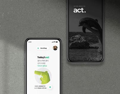 Act - UX/UI design