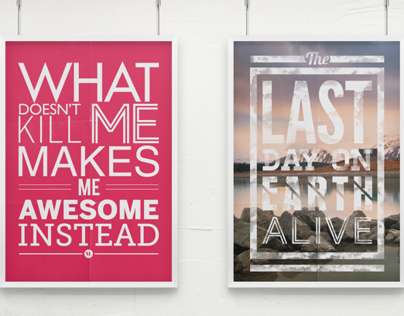Poster # Typography