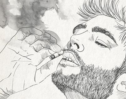 CALÍOPE - Smoke    Olatz Díaz Illustration