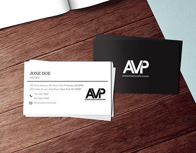 B&W Business Card Design