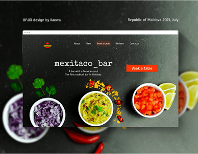 Landing page and Logo for a Mexican bar