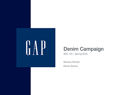 Gap Denim Campaign: ADV 125 – Final Project