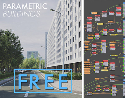PARAMETRIC BUILDIGS | Railclone Template | FREE