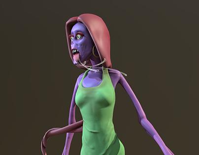 VR Character Sculpting 02 - Zombie Queen