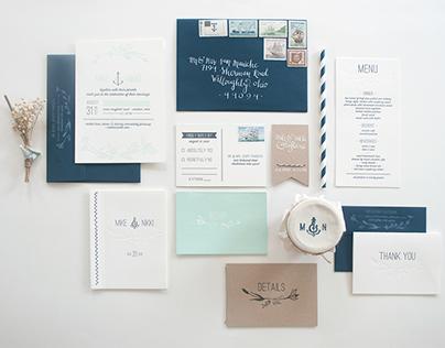 mike + nikki invitation suite
