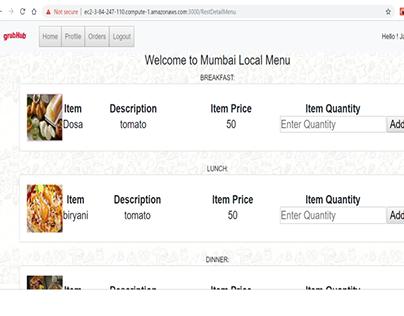GrubHub Prototype- Food ordering application