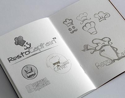RestoCaptain Logo Design Casestudy