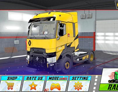 In Truck Evolution Racing Game Gui design