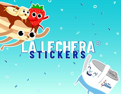 Whatsapp stickers La Lechera