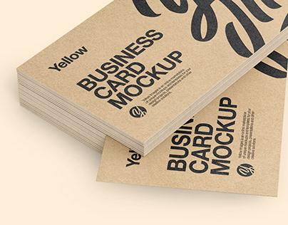 10 Kraft Business Cards Mockups