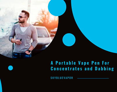 A Portable vape pen for concentrates and dabbing